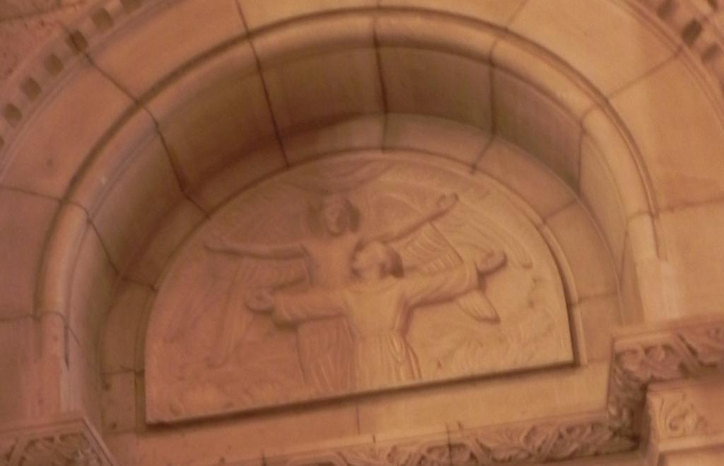 St. Francis bas-relief Ste. Anne de Beaupré