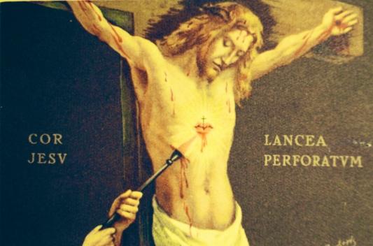 Image result for image of soldier pierced Jesus' side
