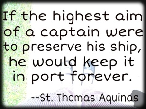 quotes St. Thomas Aquinas preserved ship