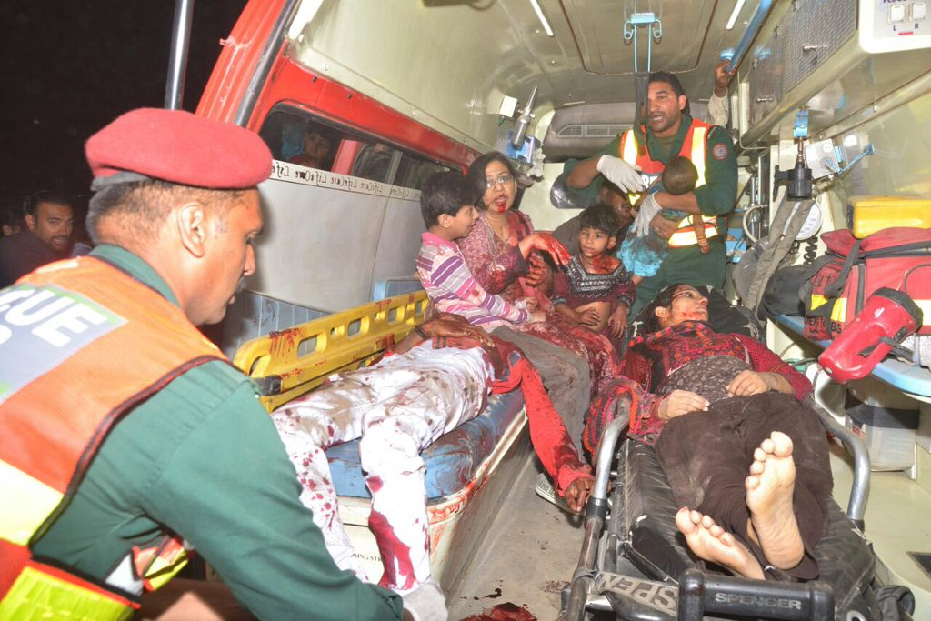 family in ambulance