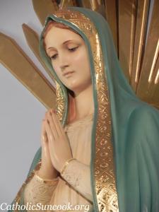 Mary statue close-up Catholic Suncook