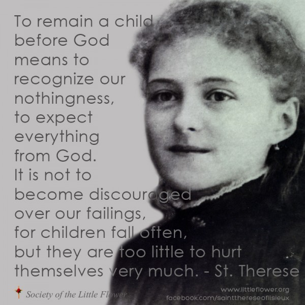 quote Saint Therese child fall