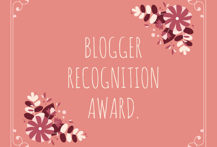 wordpress blogger recognition award