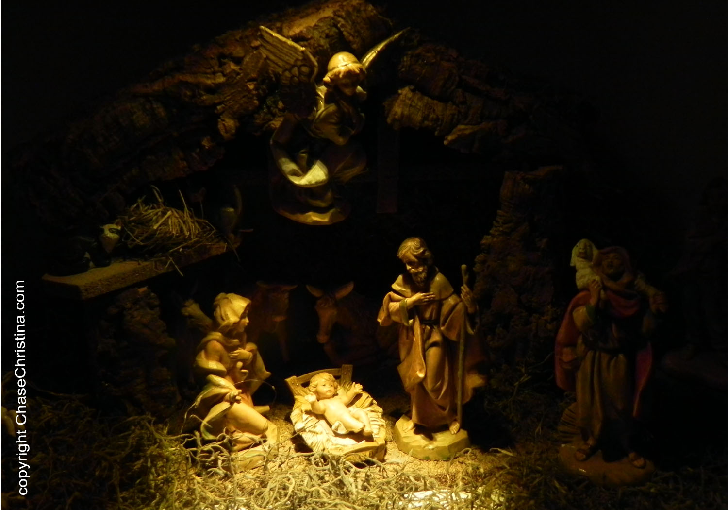 Nativity scene, Christmas, Jesus in manger