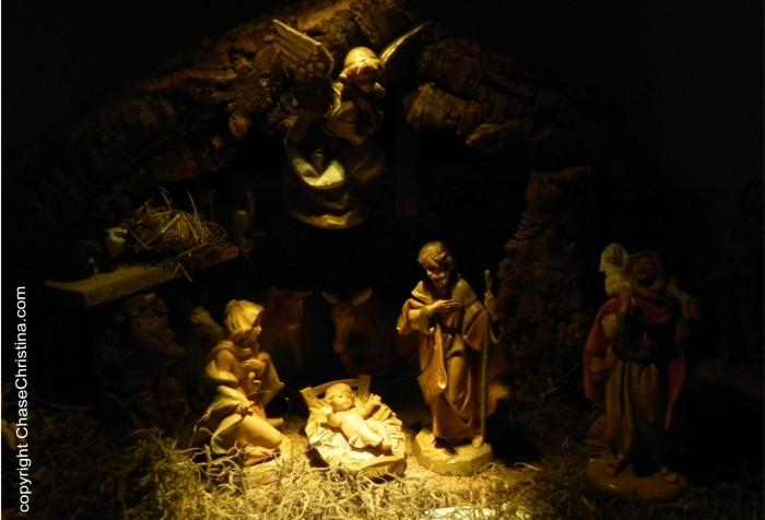 Nativity scene, Christmas, Jesus in manger