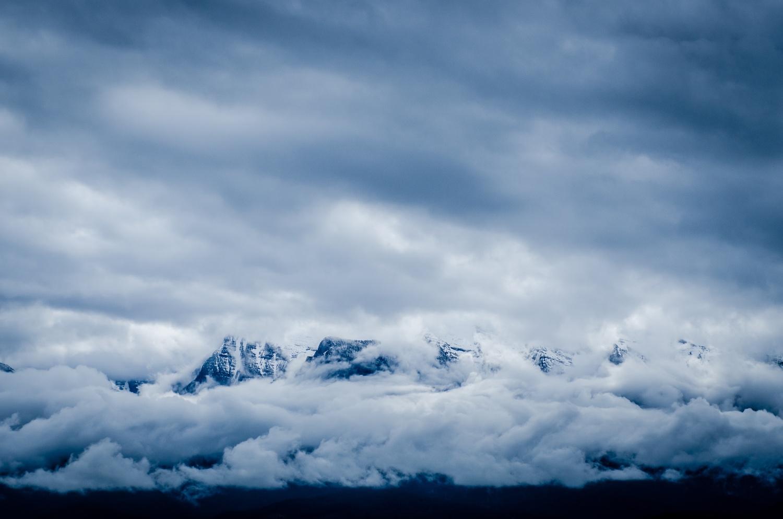 Mountains, snow, daunting