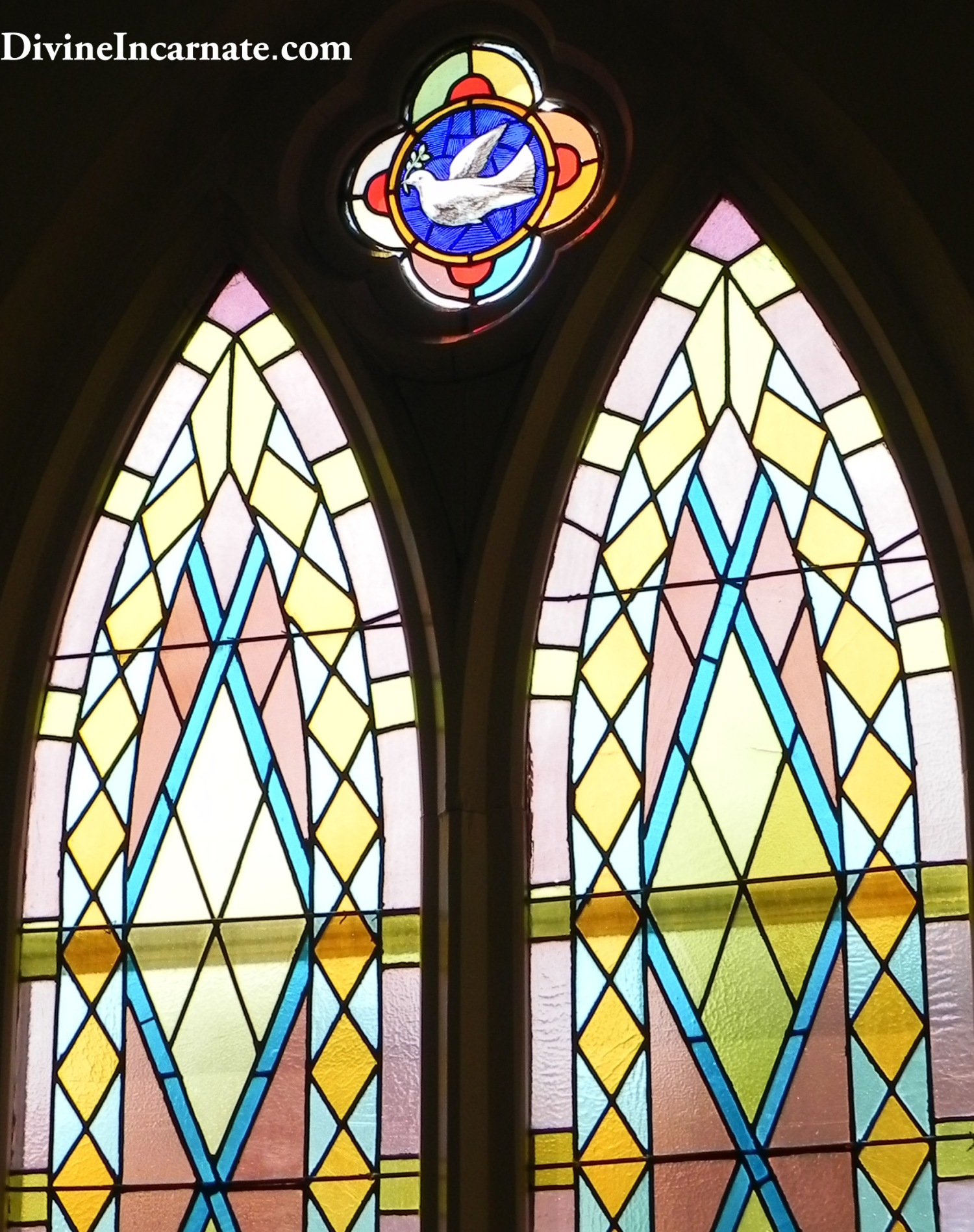 Stained-glass window, Holy Spirit, church