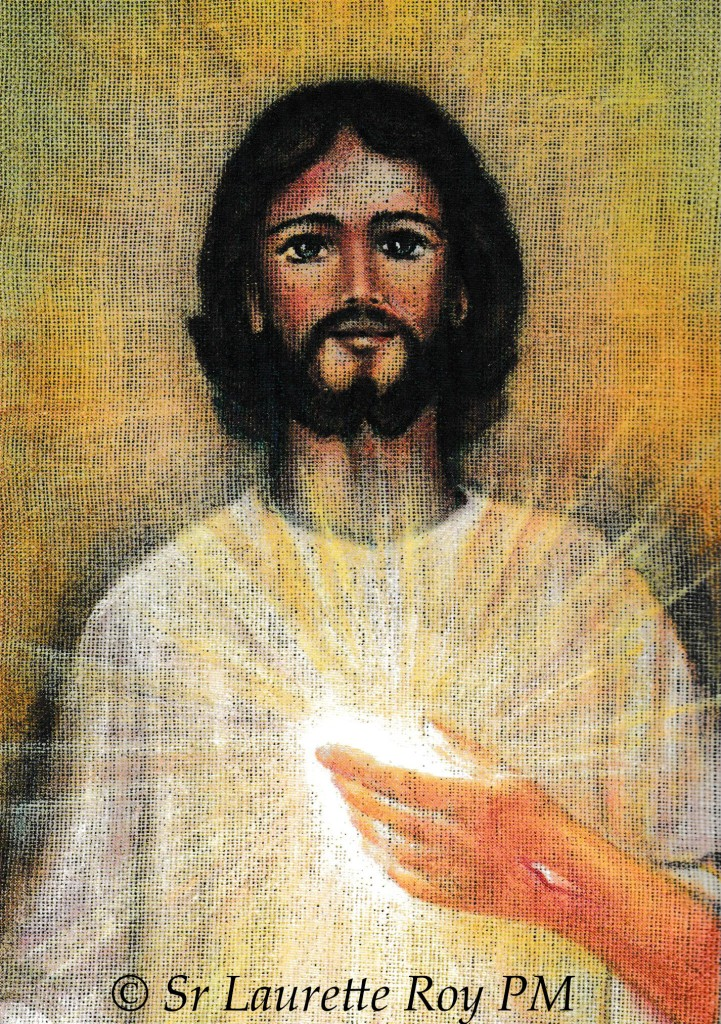 Sacred Heart of Jesus drawing