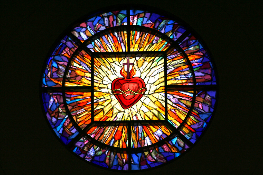 Sacred Heart of Jesus stained-glass