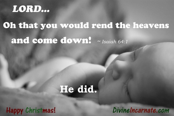 Christmas, Isaiah, Nativity, Jesus, divine incarnate