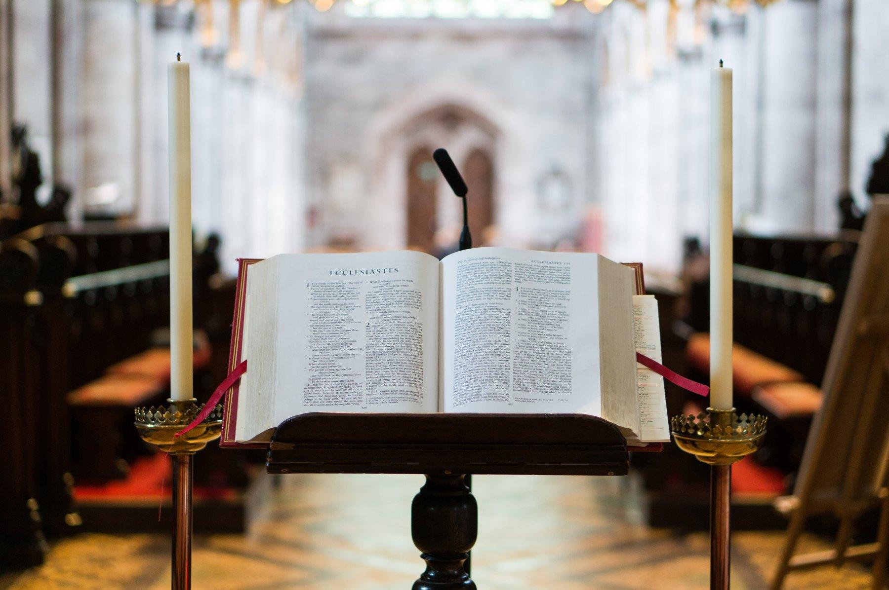 Bible, funeral, Mass, church