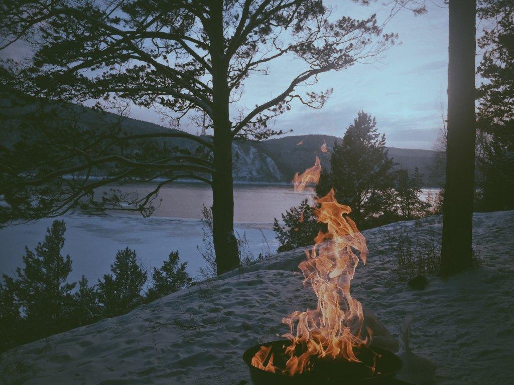 Fire, coastline, nature, Book of Wisdom