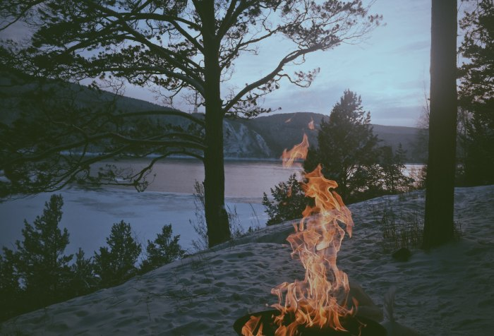 Fire, coastline, nature, Book of Wisdom