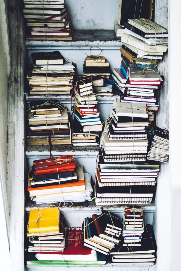 Notebooks, storage, keepsakes, writing, journals, mess