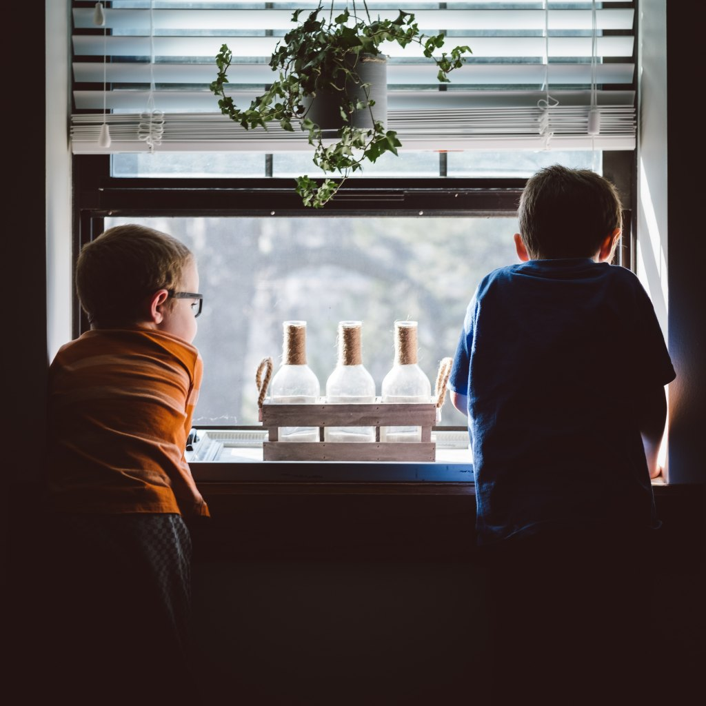 Children, window, study