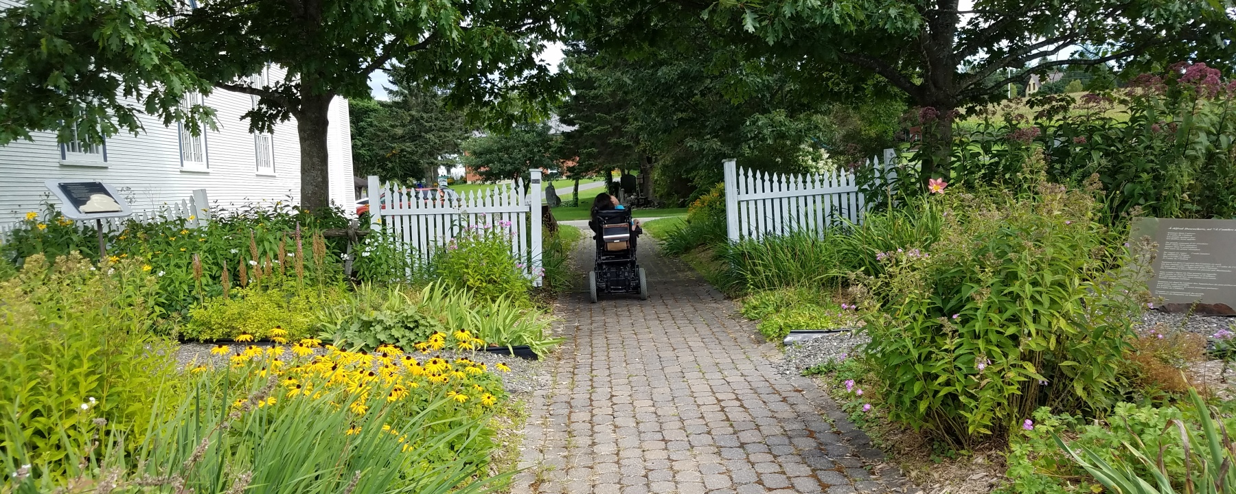 Pilgrimage, Canada, woman in wheelchair, St-Venant-de-Paquette