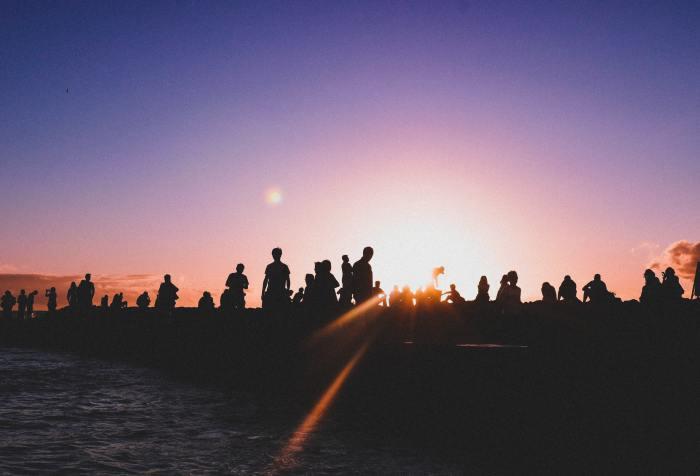 crowd of human beings