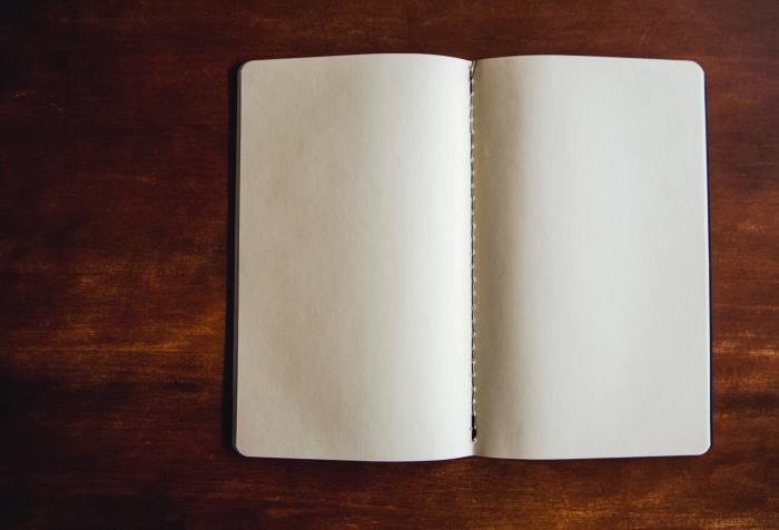 blank book denoting the absence of progress on writing my memoir